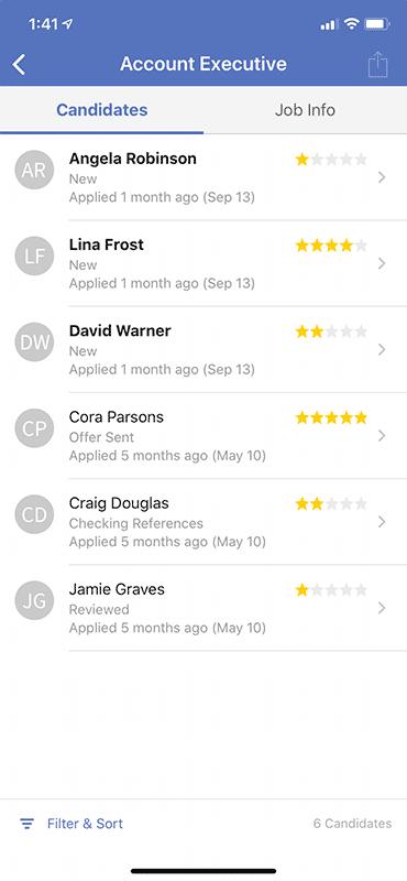 Mobile Hiring App 2